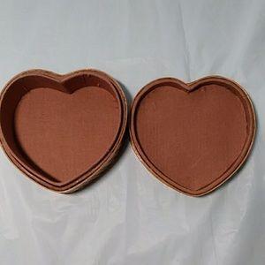 Storage & Organization - Woven Basket Trinket Box Heart Shaped